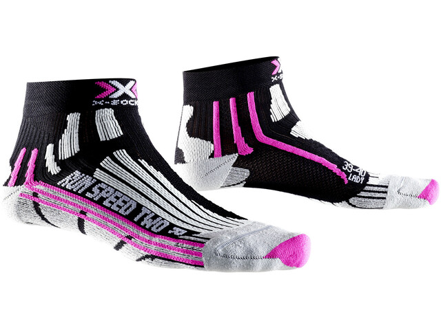 X-Socks Run Speed Two Socks Women Black/Fuchsia